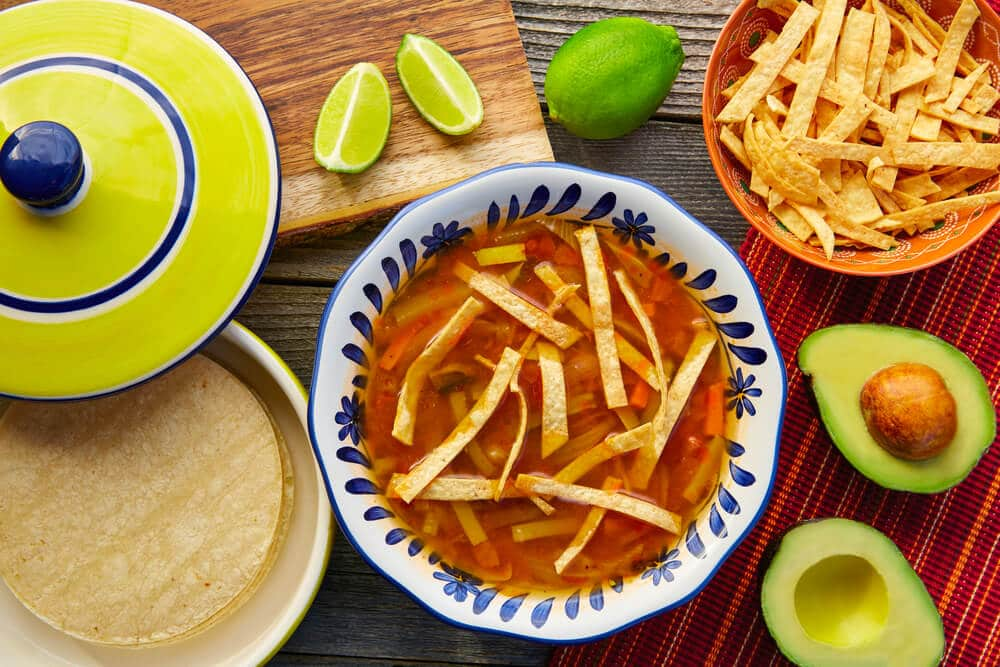 Mexican tortilla soup-El Rincon.com