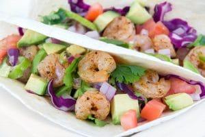 Two delicious shrimp tacos - El Rincon TX